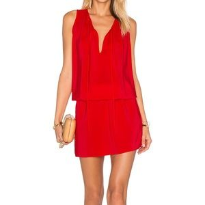 Amanda Uprichard Candy Apple Red Ambrosia Dress